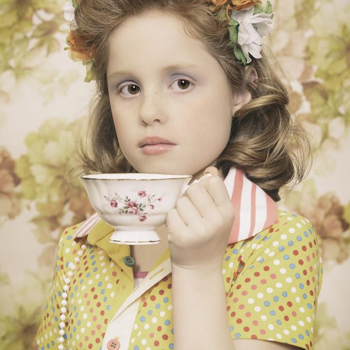 Serie gestijlde kinderportretten